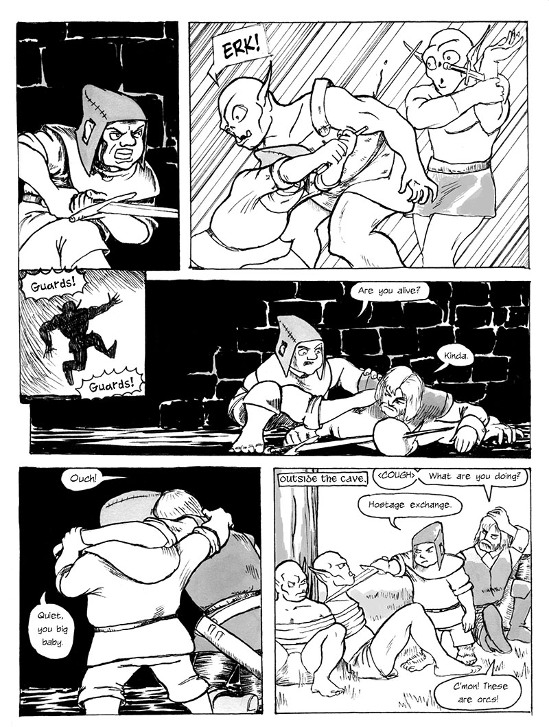 Sarkin Kills an Orc